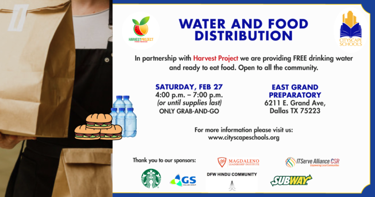 FREE Water and Food Distribution