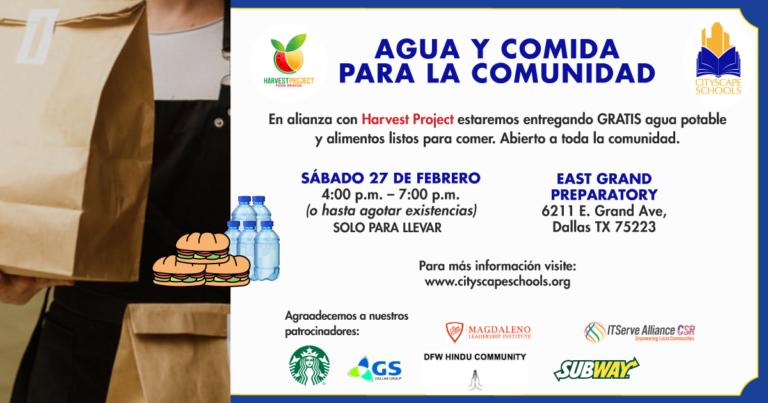 Entrega GRATUITA de agua y comida para la comunidad