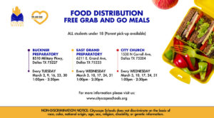 Food Distribution Calendar for March