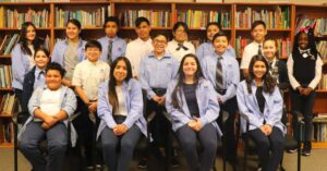 Dual language students in library