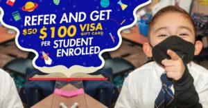 Refer and Get $100 visa gift card